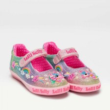 Lelli Kelly '7076' Girls Shoes (Multi Glitter)