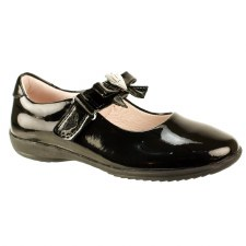 Lelli Kelly '8000 Rachel' Girls School Shoes (Black Patent)