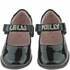 Lelli Kelly 'Nicole' School Shoe (Black Patent)