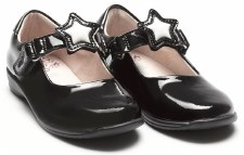 Lelli Kelly 'Colourissima' Girls Wide Fitting School Shoes (Black Patent)