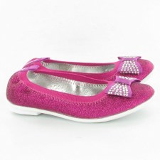 Lelli Kelly 'Brilliant Glitter' Ballerina Shoes (Pink)
