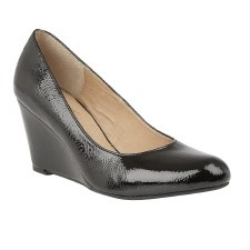 Lotus 'Blaise' Ladies Wedge Shoes (Black)