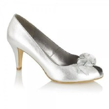 Lotus 'Flamenca' Ladies Peep-Toe Shoe (Silver)