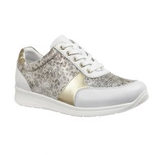 Lotus 'Florence' Ladies Trainers (White Leopard)