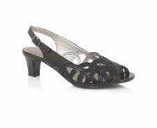 Lotus 'Harper' Slingback Sandals (Black Patent)