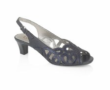 Lotus 'Harper' Slingback Sandals (Navy)