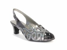 Lotus 'Harper' Slingback Sandals (Pewter)