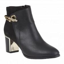 Lotus 'Honey' Ladies Ankle Boots (Black)