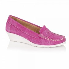 Lotus 'Jenna' Wedge Shoes (Fuchsia)