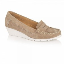 Lotus 'Jenna' Wedge Shoes (Natural)