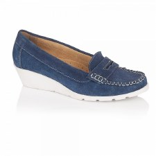 Lotus 'Jenna' Wedge Shoes (Navy)