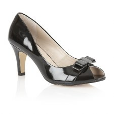 Lotus 'Roseanne' Ladies Peep-Toe Heels (Black Patent)