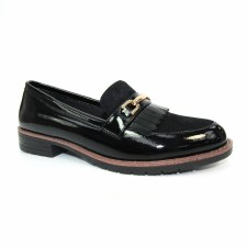 Lunar 'Ancora' Ladies Loafers (Black Patent)