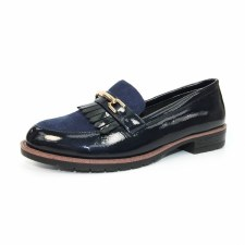 Lunar 'Ancora' Ladies Loafers (Navy Patent)