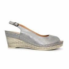 Lunar 'Annie' Ladies Sandals (Pewter)
