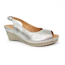 Lunar 'Annie' Ladies Sandals (Silver)