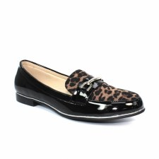 Lunar 'Antonella' Ladies Loafers (Tan Ocelot)