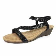 Lunar 'Blair' Ladies Sandals (Black)