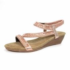 Lunar 'Blair' Ladies Sandals (Rose)