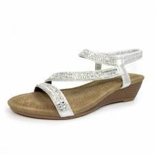 Lunar 'Blair' Ladies Sandals (Silver)