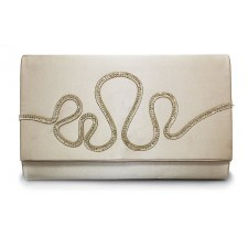 Lunar 'Courtney' Clutch Bag (Gold)