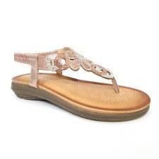 Lunar 'Edwina' Ladies Sandals (Rose Glitz)
