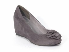 Lunar 'FLA013' Suede Wedge (Grey)