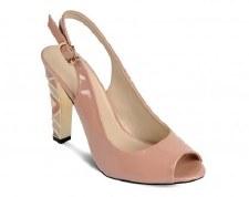 Lunar 'FLC419' Peep-Toe Heels (Beige)