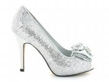Lunar 'FLR238 Rhoda' Ladies Heels (Silver)