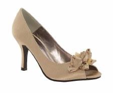 Lunar 'FLV060' Peep-Toe Shoe (Gold)