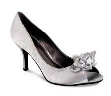 Lunar 'FLV060' Peep-Toe Shoe (Grey)