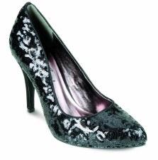 Lunar 'FLV309' Sparkling High Heels (Black)