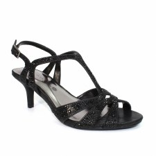 Lunar 'Francie' Ladies Wide Fitting Heels (Black)
