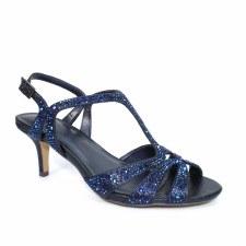 Lunar 'Francie' Ladies Wide Fitting Heels (Navy)