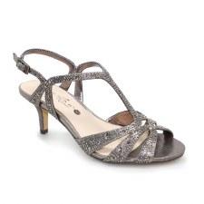 Lunar 'Francie' Ladies Wide Fitting Heels (Pewter)