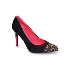 Lunar 'Hackett' Ladies Heels (Black Ocelot)