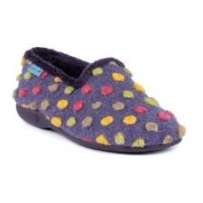 Lunar 'Helix' Ladies Slippers (Purple Spotty)