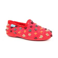Lunar 'Helix' Ladies Slippers (Red Spotty)