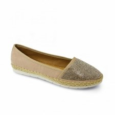 Lunar 'Hudson' Ladies Shoes (Beige)