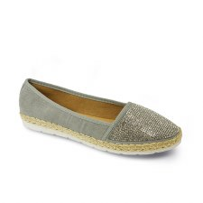 Lunar 'Hudson' Ladies Shoes (Grey)