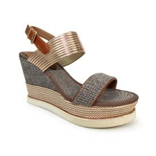 Lunar 'Laurel' Ladies Wedge Sandals (Rose)
