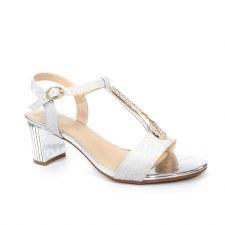 Lunar 'Lopez' Ladies Heels (Silver)