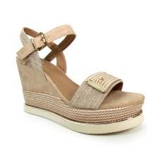 Lunar 'Lula' Ladies Wedge Sandals (Beige)