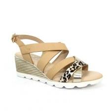 Lunar 'Ollie' Ladies Sandals (Beige)