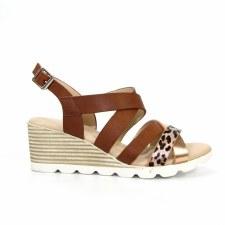 Lunar 'Ollie' Ladies Sandals (Brown)