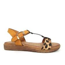 Lunar 'Peru' Ladies Sandals (Leopard Print)
