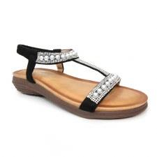 Lunar 'Tancy' Ladies Sandals (Black)