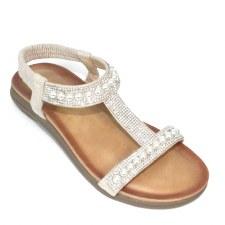 Lunar 'Tancy' Ladies Sandals (White)
