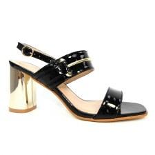 Lunar 'Tino' Ladies Heels (Black Metallic)