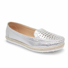 Lunar 'Tyler' Ladies Shoes (Silver)